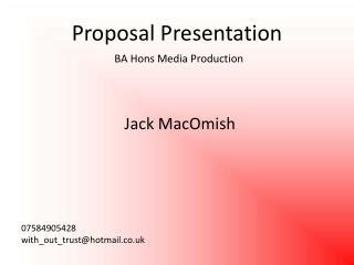 How to Write a Research Proposal 1ppt Abstract